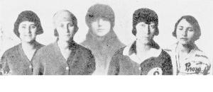 1920'ler İlk Bayan Kürekçiler Bedia Naci Evranos - Belkıs Ethem Soysal - Ayniye Kerim (Leyla) - Melek Ethem Soysal - Meliha Hüseyin