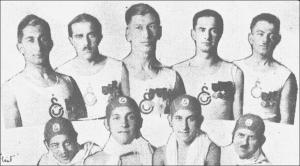 1920'ler, Kürekçi ve yüzücülerimiz Kürekçiler Aslan Nihat-İsmail-Kamil- Naci-Suphi, Yüzücüler Malik-Sedat-Nejat-Fazıl