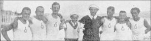 1924 İzmit seyahatine katılan kürekçiler Hayri Tokatlıoğlu - Naci Evranos - Mecdi Hüsam - Kemal Şerbetçi - Kamil Ethem Soysal - Suphi Yalter - Hakkı Tokatlıoğlu