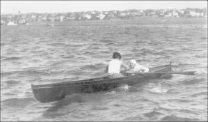 1926 yılında Moda Yarışlarında Tek çifte Bayanlar Serdümen Sevim Şamlı – Kürekçi Zekiye Faruki