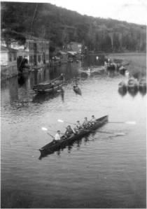 1930'lu yıllar İlk dört tek Skif 'imiz Göksu'da Serdümen Muzaffer Eser - Mehdi Ağaoğlu- Rüknettin Öztamur- Lütfü Karabağ- İbrahim Göktalay