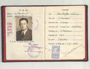 1938 Nevin Hassan Sporcu Kimliği