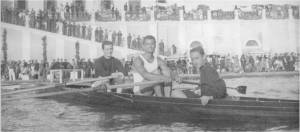 1939 yılında Çengelköy'de Kuleli Askeri Lisesi önünde bir iki çifte ekibimiz Serdümen Ali.- Hamlada Ali Enünlü - Sıvıryada Nezih Ulagay