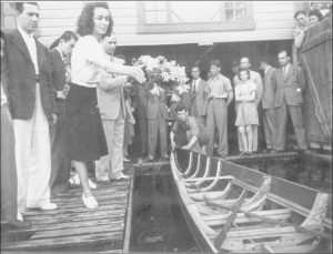 1951 Bebekteki lokalin açılışısoldan sağa Şevket Davran, Nazlı Yar, Akgün Ustalar, İhsan İpekçi, Adnan Akıska, Emin Gezgöç, Hüsnü Bilgin