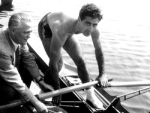 1953-Tonguç Türsan. Flörsheim Golden Skiff yarışı öncesinde.