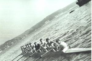 1967 Sekiz Tek Adanın önünde antrenmanda