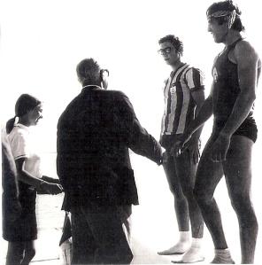 1968 2x Celal Gürsoy-Erdinç Karaer, Fed. Başk. Eftal Nogan