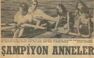 1968 Şampiyon anneler Ünal Yaman ve Evin Saraçoğlu
