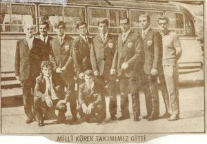 1969 Klagenfurt Avrupa Şamp. giden ekip seyahatten önce