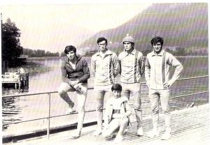 1970 4+ Villach. Erdnç Karaer, Celal Gürsoy, Ahmet Şenkal, Mehmet Ayata, Dümenci Hüseyin Özer