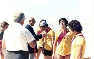 1974 Türkiye Şampiyonu 4- Yunus Yılmaz, recep Akıcı, Faruk Algür, Mejmet Burçkin, Fed. Başk. Eftal Nogan