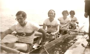 1974 Villach 4+ Birincilik Madalyası alırken. Celal-Atılay-Yılmaz-Tayyar