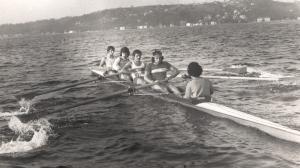 1975 antrenman. Mustafa Yurdagül, Ahmet Şenkal, Barbaros Mumcuoğlu, Tayfun Arslan, Dümenci Ceyhun Tuğcu