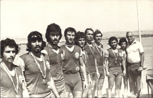1975 Şampiyon 8+ Yunus, Eren, Barbaros, Tayfun, Elhan, Mustafa, Ahmet, Selçuk, Dümenci Ceyhun, Şube Kaptanı İlter Tekand.