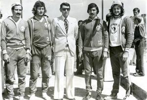 1975 Faruk Algür-Gürtan Tokay-Spor Bakanı Ali Şevki Erek-Recep Akıcı-Mehmet Burçkin