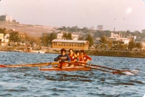 1975 Notingham -İngiltere Dünya Şampiyonası Hazırlık Kampı. Küçükçekmece. Recep Akıcı-Faruk Algür-Gürtan Tokay-Mehmet Burçkin