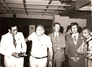 1977 Ödül Töreni. Celal Gürsoy, Sunullah Üner, Jerfi Fıratlı, Emir Turgan, Ali Ruhi Alemdar