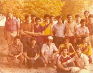 1979 Antrenör Celal Gürsoy, sporcular ve Emin Gezgöç şampiyona öncesinde