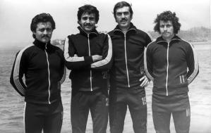 46-1977 Selçuk Çelikmen, Eren Aktolgalı, Ahmet Şenkal, Yunus Yılmaz.